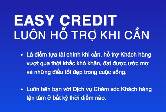 vay tín chấp ngân hàng điện lực easy credit